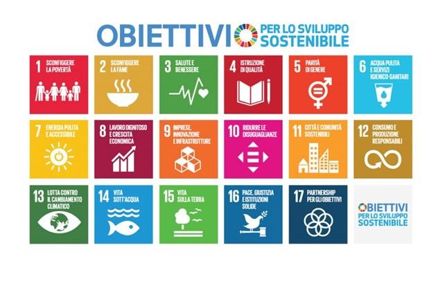 I 17 obiettivi previsti dall'agenda 2030